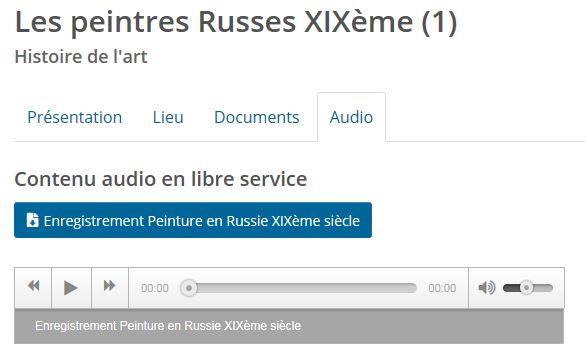 peintres russes audio